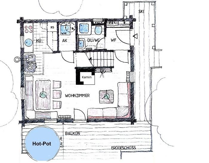 Grundriss Erdgeschoss Mit Hot Pot